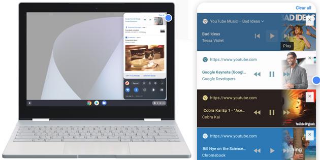 Chrome OS migliora Audio, Fotocamera e Notifiche