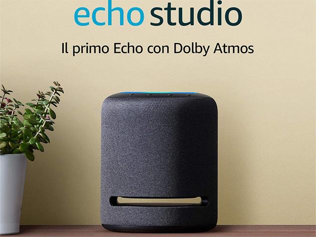 Amazon Echo Studio, smart speaker con audio Hi-Fi e Alexa