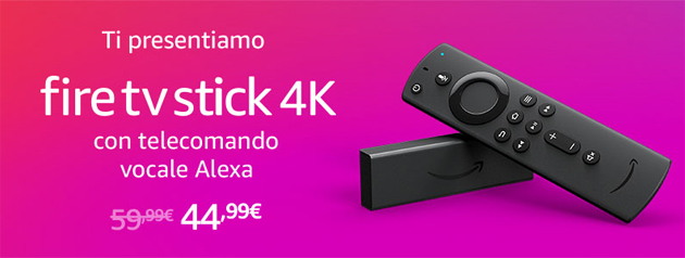 Amazon Fire TV Stick 4K con HDR, Dolby Vision e Alexa in Italia