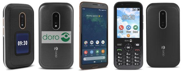 Doro 8080, 6060, 7030, 6620 e 7010 nuovi telefoni per senior annunciati a IFA 2019