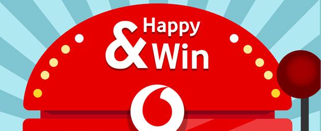 Vodafone Happy e Win, concorso con in palio smartphone, crociere e altro ancora
