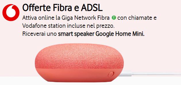 Vodafone Internet Unlimited regala Google Home Mini