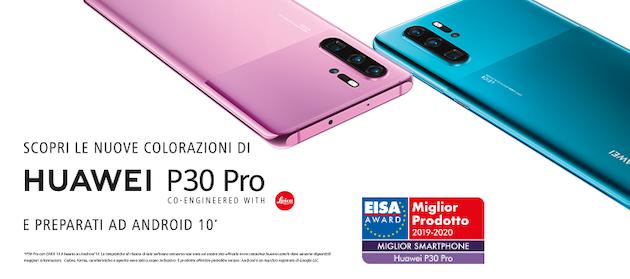 Huawei P30 Pro in due nuove colorazioni e presto con Android 10