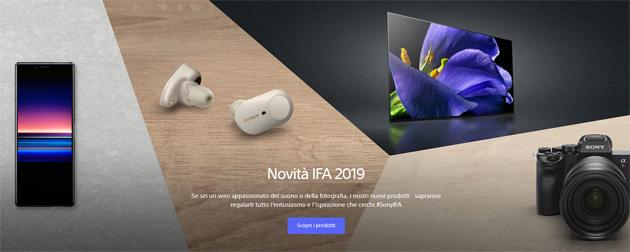 Sony a IFA 2019: tutti gli annunci e Replay conferenza stampa