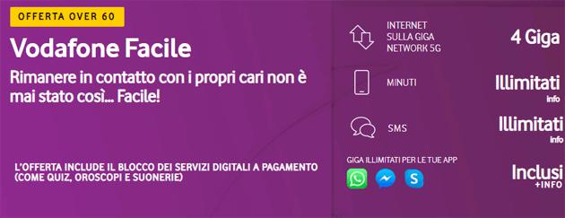 Vodafone Facile: tutto incluso per Over 60 con 12,99 euro al mese