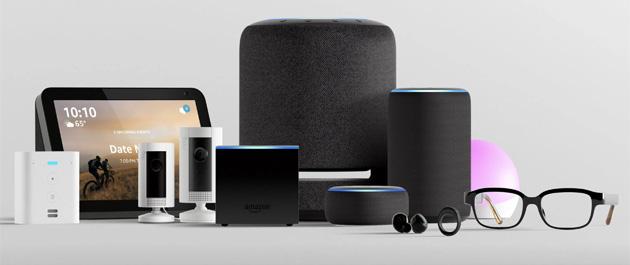 Amazon annuncia Echo Studio, Dot con orologio, Flex, Buds, Show 8, l'anello Loop, gli occhiali Frames - tutti con Alexa