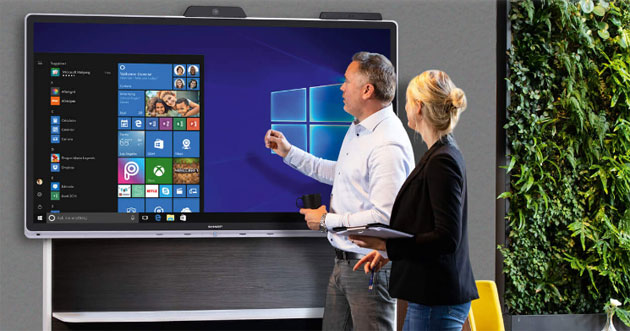 Sharp Windows Collaboration Display, monitor interattivo 4K che migliora il lavoro collaborativo nelle aziende ora in vendita