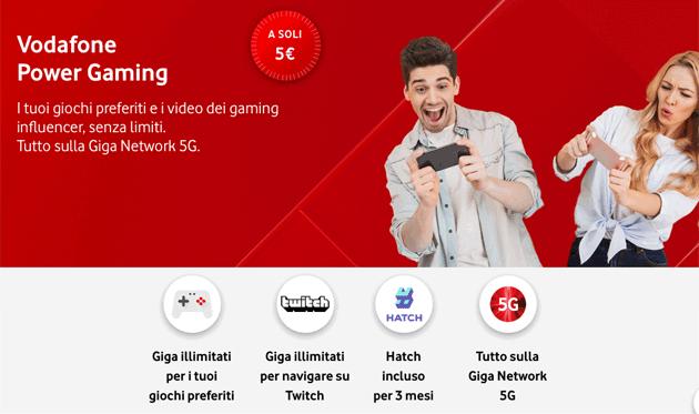 Vodafone Power Gaming, offerta per giocare senza consumare giga su selezionati titoli
