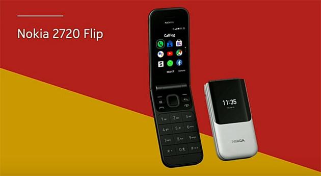 Nokia 2720 Flip, telefono classico a conchiglia con 4G, Whatsapp e Facebook