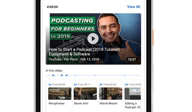 Google Ricerca aiuta a trovare momenti chiave nei video di Youtube