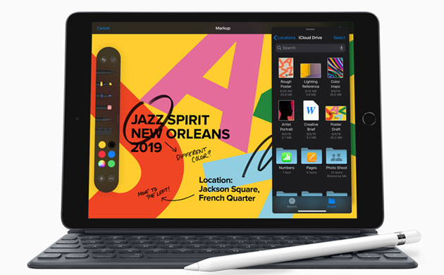 Apple lancia iPad di 7a gen con Retina Display 10.2, Apple Pencil, supporto Smart Keyboard e iPadOS