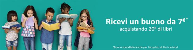 Amazon regala 7 euro acquistando 20 euro di libri