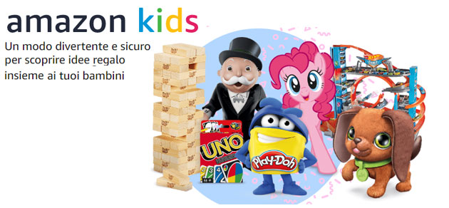 Amazon Kids, spazio sicuro per far scoprire ai bambini i giochi disponibili su Amazon