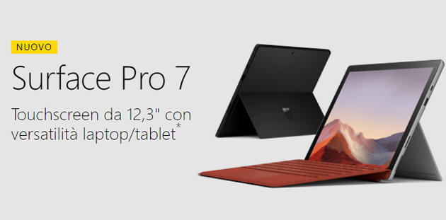 Microsoft Surface Pro 7: Specifiche, Foto, Video e Prezzi in Italia