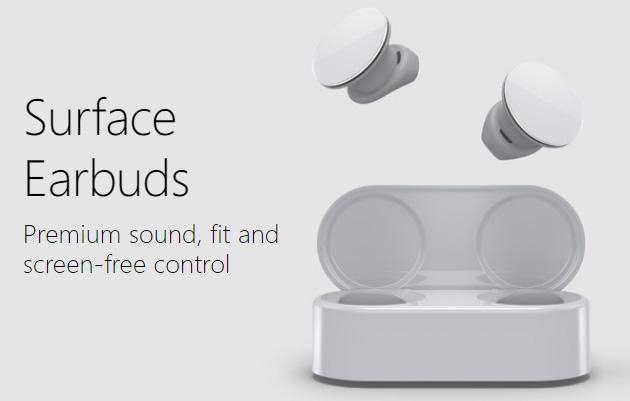 Surface EarBuds, primi auricolari completamente wireless Microsoft