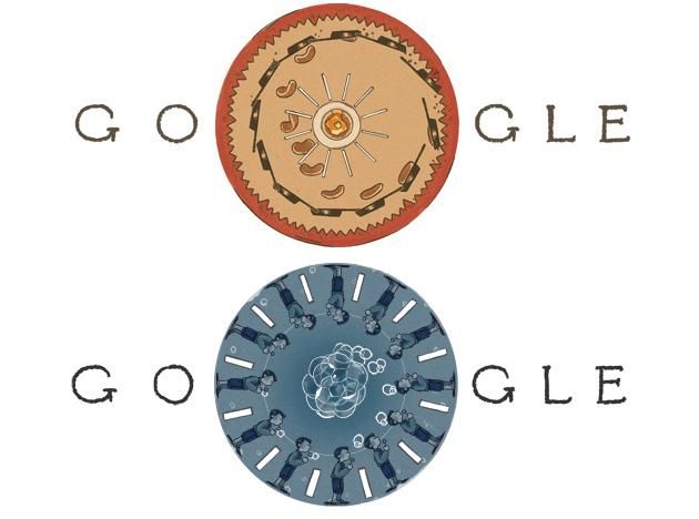 Google doodle per Joseph Plateau inventore del Fenachistoscopio