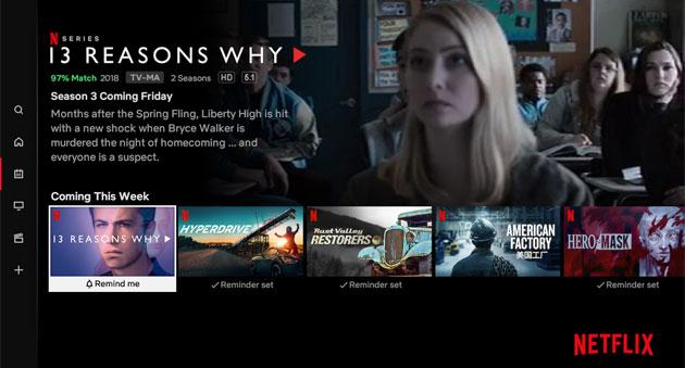 Netflix introduce i promemoria per scoprire nuovi contenuti in arrivo