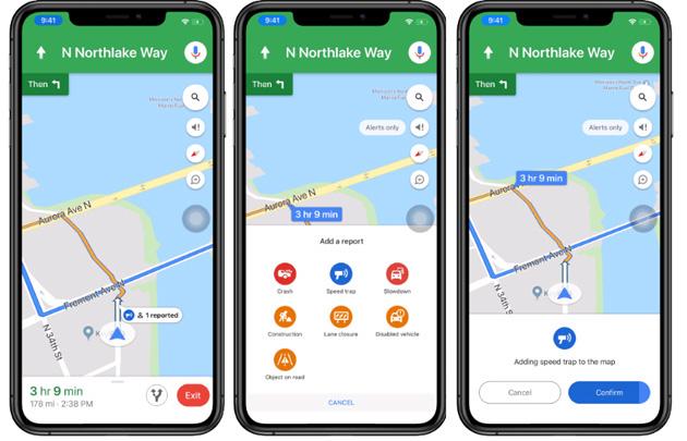 Google Maps offre nuovi modi per segnalare incidenti e rallentamenti su strada