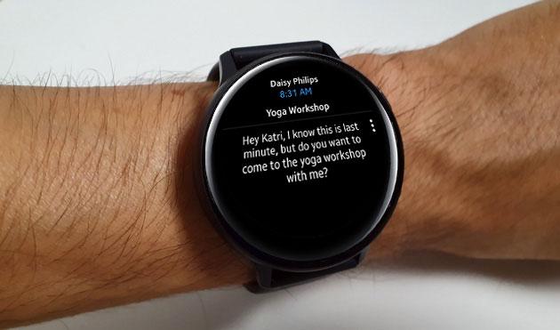 Outlook per Android supporta gli smartwatch Samsung Galaxy in forma avanzata