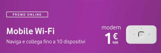 Vodafone Mobile Wi-Fi R219 a 1 euro con le offerte Giga Speed