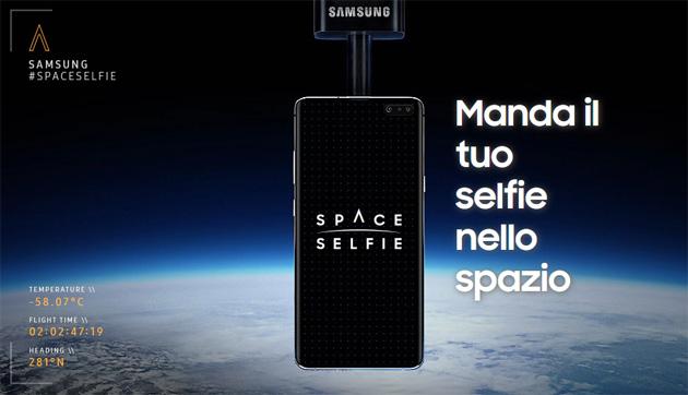 Samsung SpaceSelfie ci porta nella stratosfera, basta un selfie