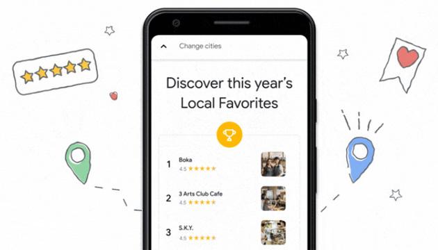 Google lancia gli elenchi Preferiti Locali con i ristoranti migliori preferiti dagli utenti