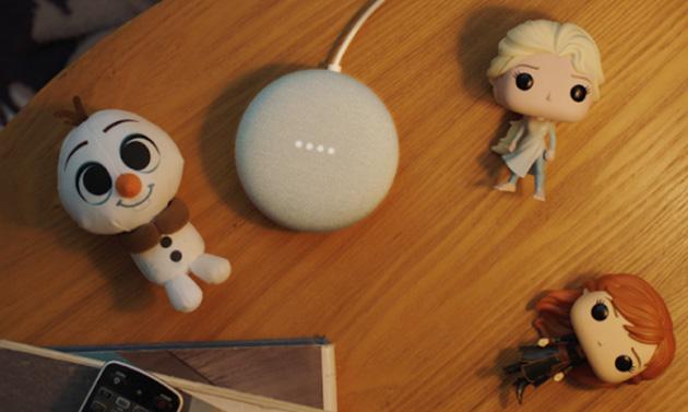 Le storie Disney a tema Frozen 2 sugli altoparlanti Google Nest