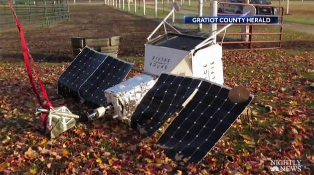 Samsung SpaceSelfie, il dispositivo usato per inviare selfie nello spazio atterra in una fattoria del Michigan