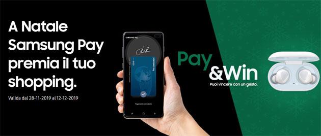 Samsung Pay premia lo shopping natalizio con Galaxy Buds