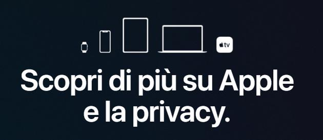 Apple spiega come gestisce la privacy degli utenti in una pagina aggiornata del suo sito web