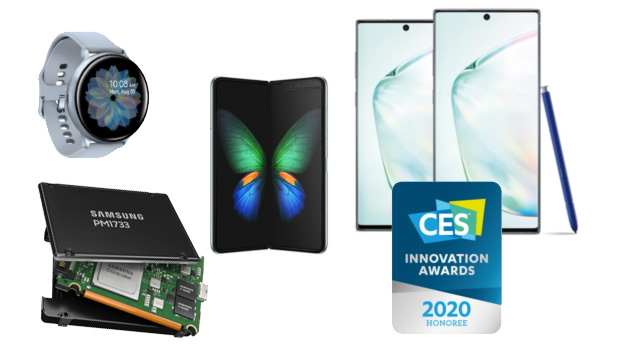 CES 2020 Awards: LG G8X, Samsung Galaxy Watch2, Note10, S10 5G tra i prodotti premiati