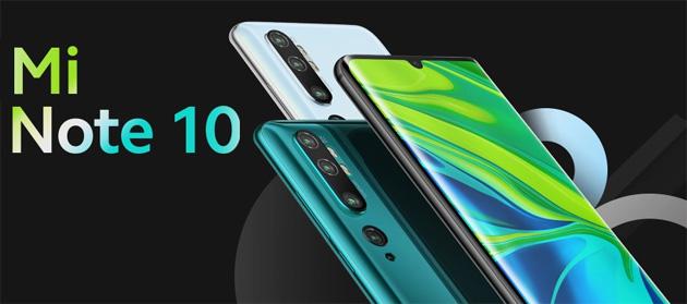 Xiaomi Mi Note 10 ufficiale in Italia con 108MP di fotocamera e altri 4 obiettivi sul retro