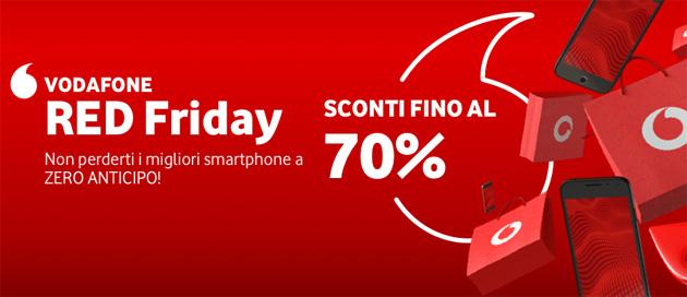 Vodafone RED Friday 2019: smartphone con Zero Anticipo scontati fino al 70 per cento