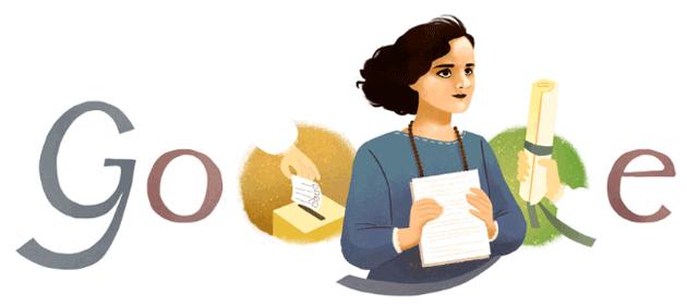 Google doodle per Matilde Hidalgo de Procel, la prima donna ad aver raggiunto importanti traguardi in Ecuador