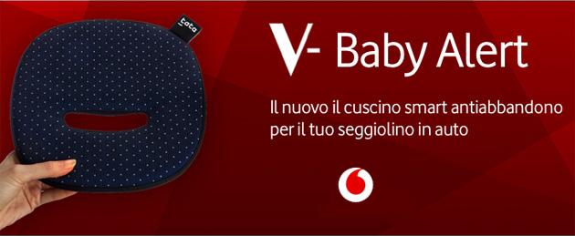 Vodafone V-Baby Alert, dispositivo antiabbandono per auto