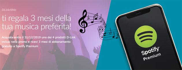 D-Link regala 3 mesi di Spotify Premium