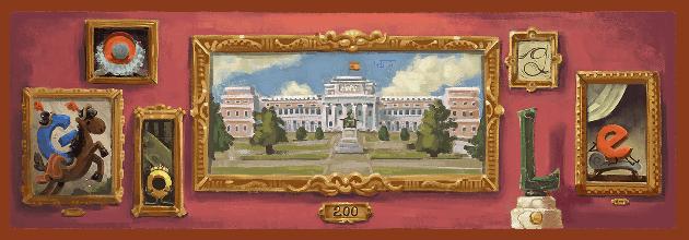 Google doodle per il Bicentenario del Museo del Prado di Madrid