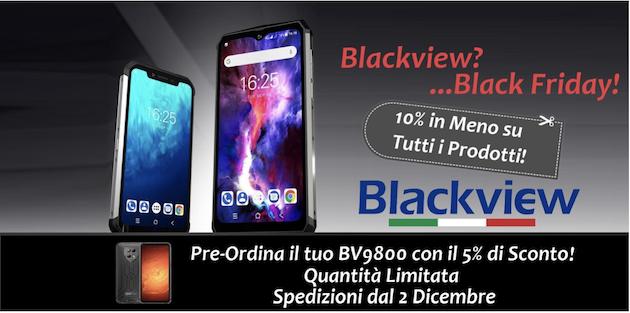 Il Black Friday arriva anche sullo store ufficiale Italiano di Blackview