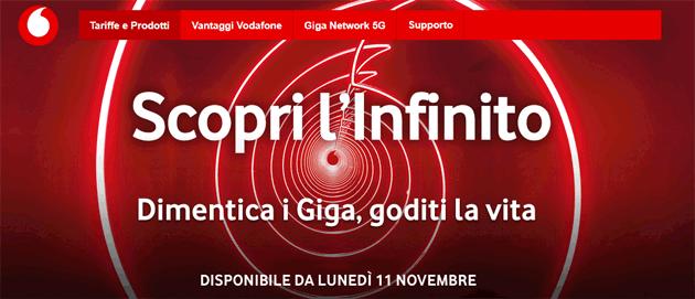 Vodafone Infinito: SMS, Minuti e Giga Illimitati - Dettagli e Prezzi