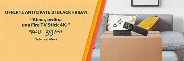 Amazon Fire TV Stick 4K e Echo Show 5 in offerta anticipata solo con Alexa