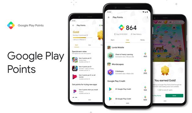 Il programma Google Play Points che ricompensa gli acquisti sul Play Store in Italia