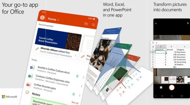 Microsoft lancia nuova app Office 3-in-1 con Word, Excel e PowerPoint per smartphone Android e iOS