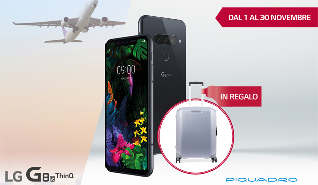 LG G8s regala un prodotto Piquadro