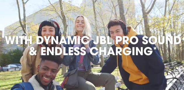 JBL presenta cuffie wireless a ricarica solare