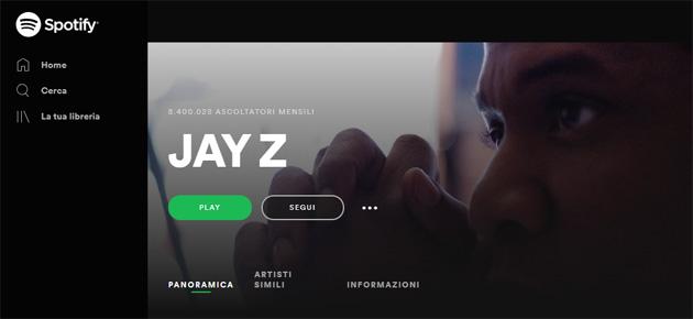 La musica di Jay Z torna su Spotify