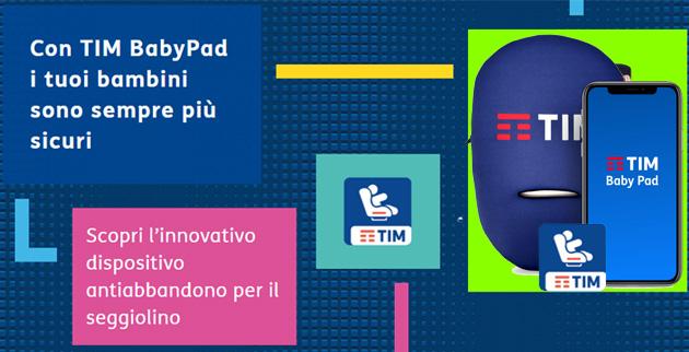 TIM BabyPad, dispositivo antiabbandono per auto