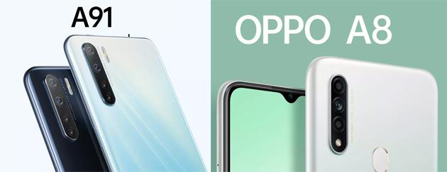 Opoo A91 e Oppo A8 ufficiali, nuovi smartphone di fascia media