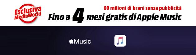 Apple Music, fino a 4 mesi in regalo con Mediaworld