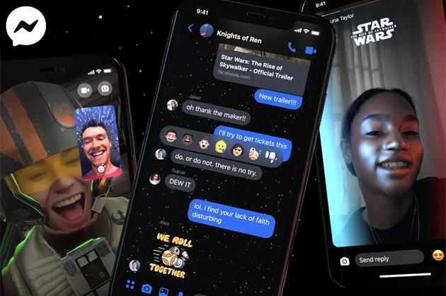 Messenger omaggia Star Wars: The Rise of Skywalker con Tema, Adesivi ed Effetti AR dedicati