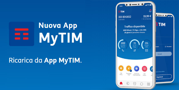 TIM regala bonus Ricarica su App MyTIM oggi 9 Giugno